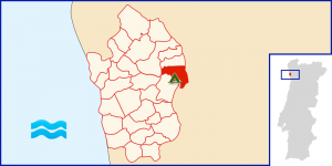 Localização do Parque em Portugal.